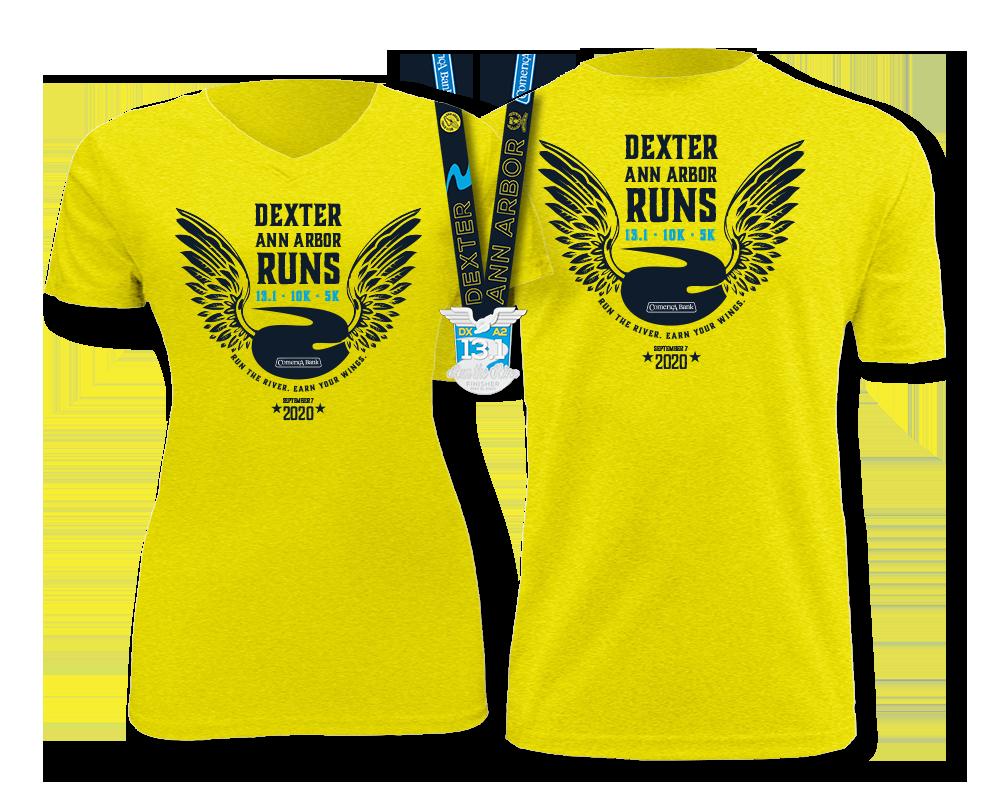2019 Dexter-Ann Arbor Half Marathon, 10k & 5k Shirts & Finisher Medals
